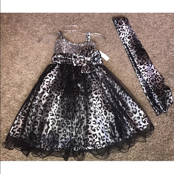 JoyKids Other - 8 Animal Print  Special Occasion Formal Dress NWT